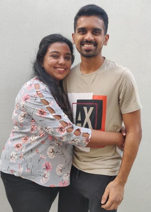 Murugan Ashwin and Aishwarya Subramanian, as seen in December 2020