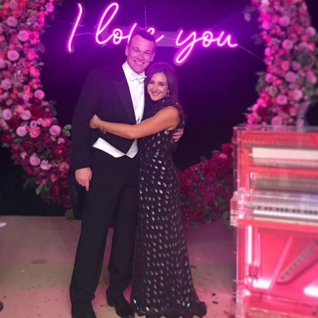 Natasha and her husband Simon Bateman as seen posing together in 2019