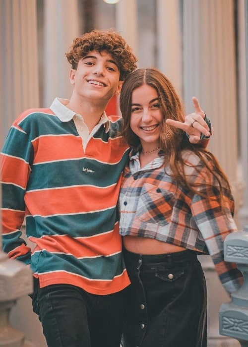 Nick Bencivengo and singer and actress GiaNina Paolantonio in a picture that was taken in Los Angeles, California in December 2020