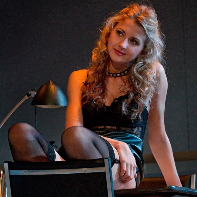 Nina Arianda as seen in a picture that was taken during the shoot of Venus in Fur (2013)