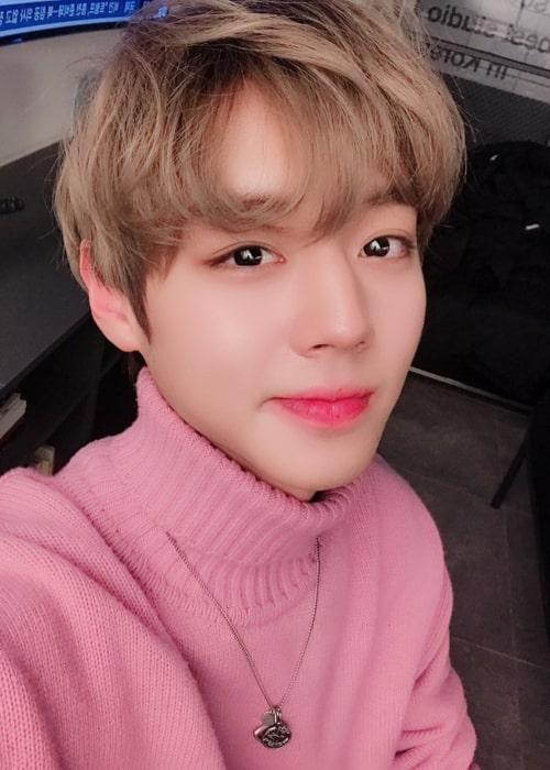 Park Ji-hoon in an Instagram selfie from February 2019