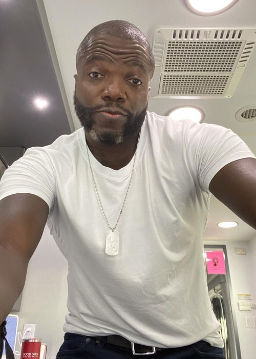 Reno Wilson as seen while taking a selfie in February 2021