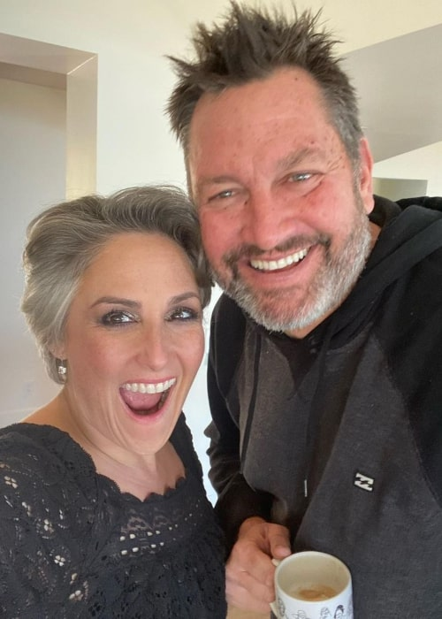 Ricki Lake and Ross Burningham, as seen in February 2021