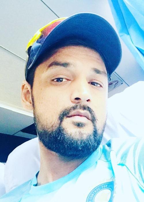 Shahbaz Nadeem in an Instagram selfie from February 2019