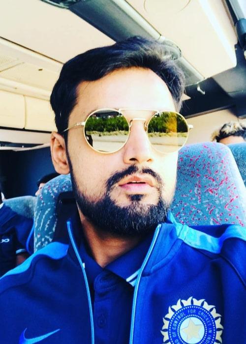 Shahbaz Nadeem in an Instagram selfie from November 2018