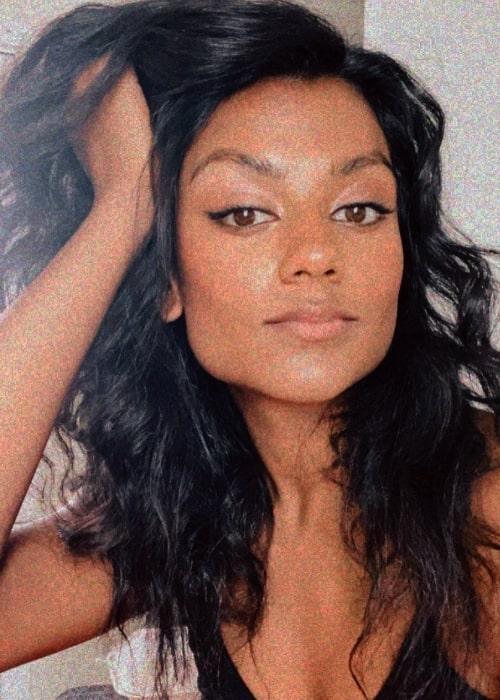 Simone Ashley as seen in a selfie that was taken in December 2020