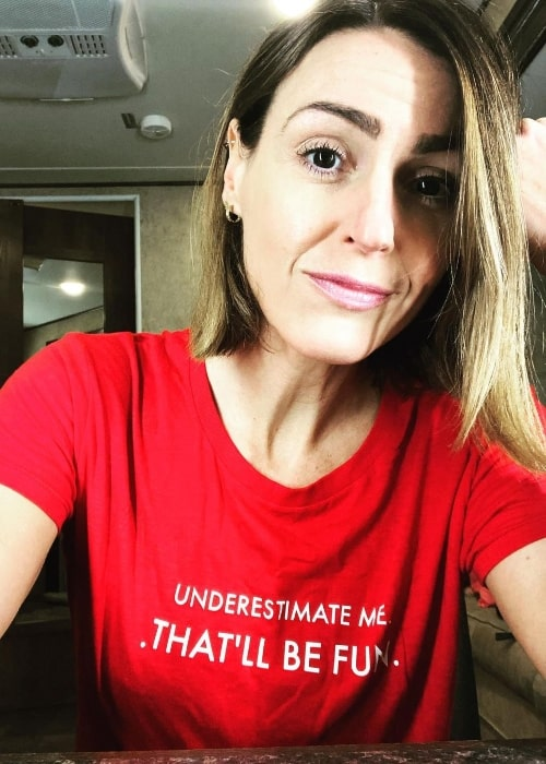 Suranne Jones as seen while smiling for a selfie in an Instagram post in September 2020