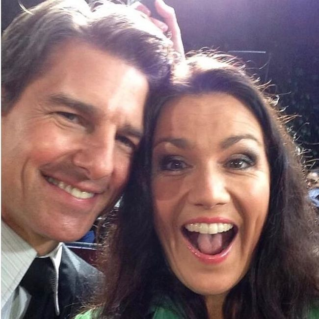 Susanna Reid as seen smiling with Tom Cruise in 2019