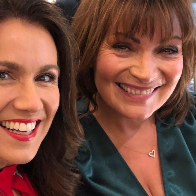 Susanna Reid (left) and Lorraine Kelly as seen together in 2020