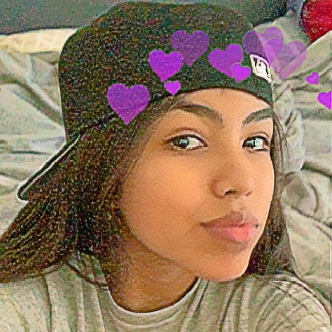 Swaggy_saraaa as seen in selfie that was taken in January 2021