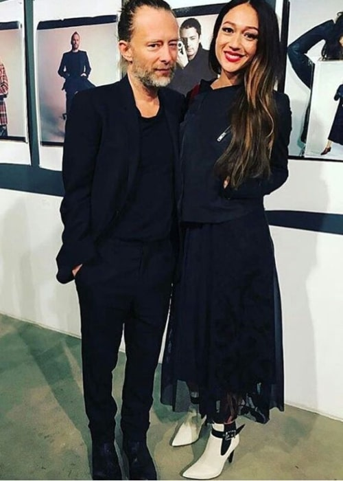 Thom Yorke and Dajana Roncione, as seen in March 2017