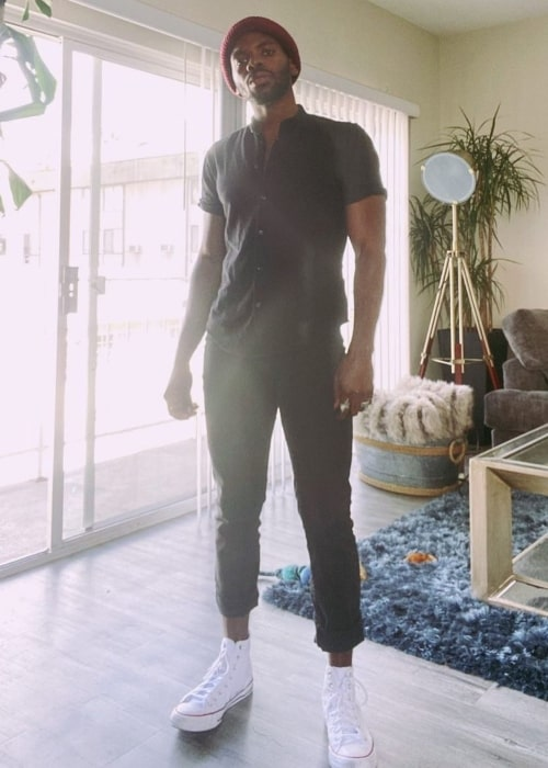 Tian Richards as seen in a picture that was taken in Los Angeles, California in March 2020