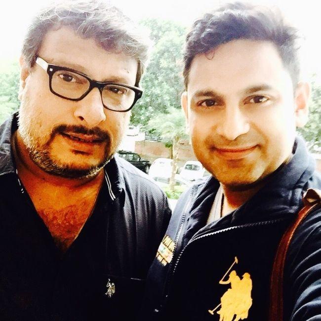 Tigmanshu Dhulia (left) as seen in a selfie with Manoj Muntashir