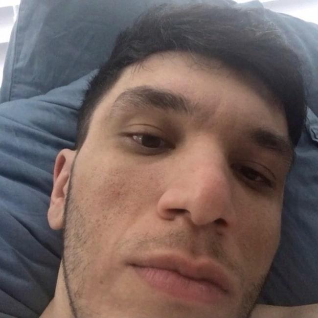 Trainwreckstv as seen in a selfie that was taken in November 2020