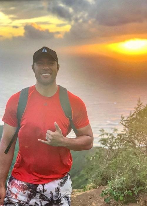 Uli Latukefu as seen while posing for the camera while enjoying the sunrise at Koko Head Summit in November 2019