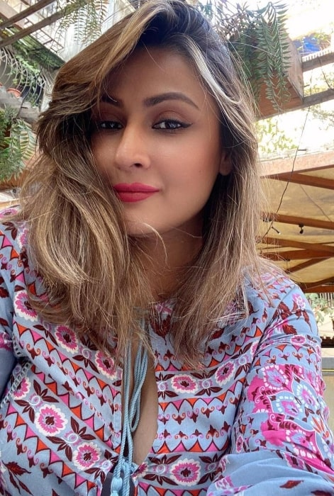 Urvashi Dholakia as seen while taking a selfie in February 2021