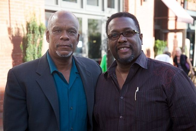 Wendell Pierce (right) and Stanley Nelson as seen together in 2010