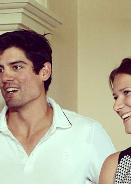 Alastair Cook and Alice Hunt, as seen in May 2014