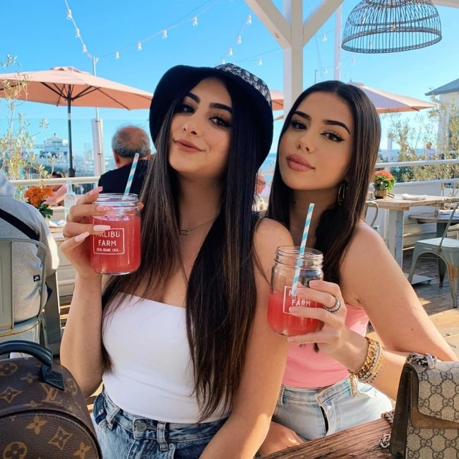 Amanda Díaz as seen in a picture with fellow YouTuber Nicolette Gray in Malibu, California in April 2020