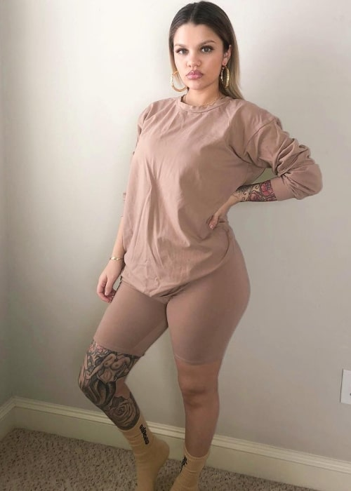 Amina Blue as seen in a picture that was taken in April 2019