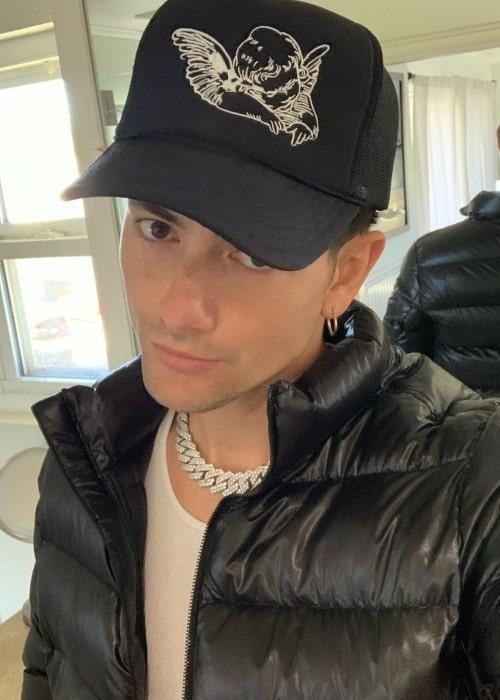 Anthony Ortiz in an Instagram selfie as seen in March 2021