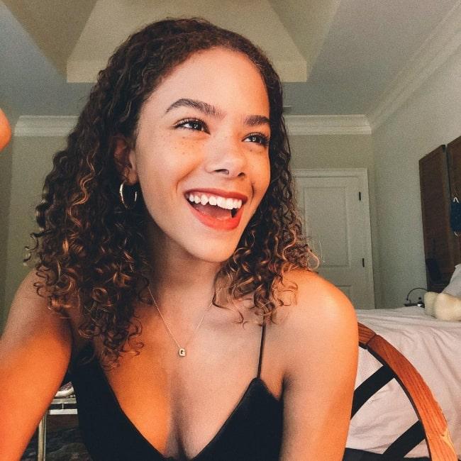 Antonia Gentry smiling in an Instagram post in July 2020
