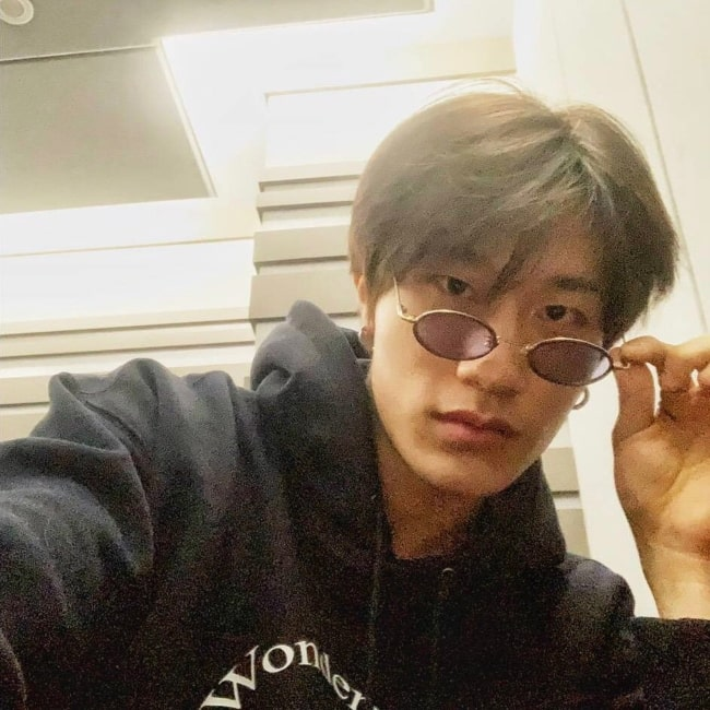 Bang Ye-dam as seen in a selfie that was taken in the past