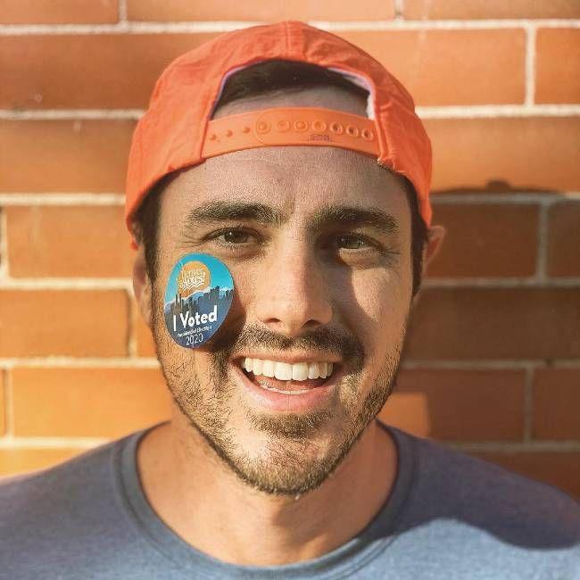 Ben Higgins as seen smiling in October 2020