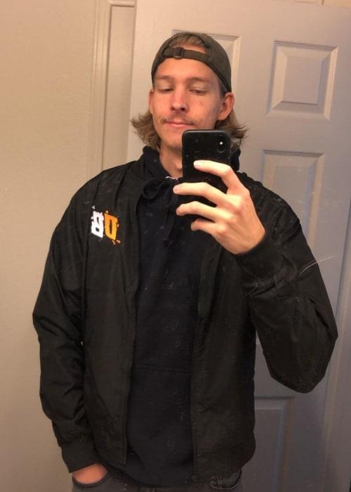 BroitsRob as seen in a selfie that was taken in December 2020