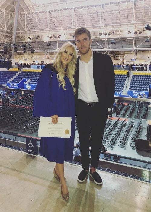Connor McDavid and Lauren Kyle, as seen in June 2019