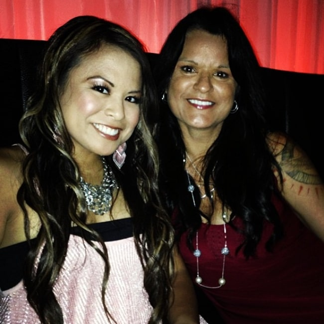 Crystle Lightning and her mother Georgina Lightning as seen in a selfie that was taken in August 2013