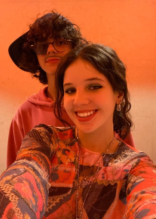 Cylia Chasman as seen in a selfie with her beau Jack Dylan Grazer that was taken in January 2021