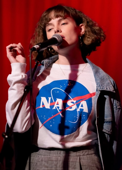 Cyn as seen while performing at the Hotel Cafe in Hollywood, Los Angeles, California in August 2018