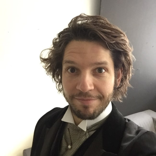 Damien Molony as seen while taking a selfie
