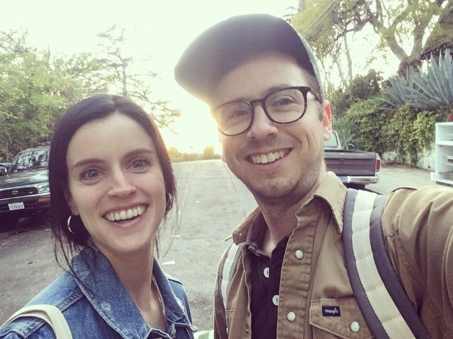 Dan Beirne as seen while taking a selfie with Andréa Grant in June 2019