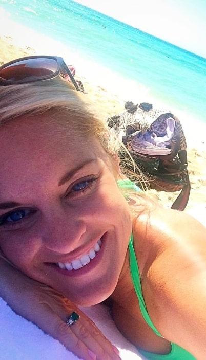 Danni Baird in April 2017 enjoying a beautiful break in Albany in The Bahamas
