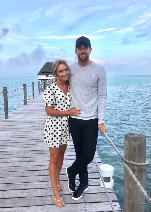 Dawid Malan and Claire Mottram, as seen in October 2019