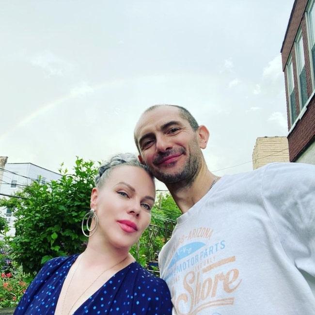 Debi Mazar and her husband Gabriele Corcos in a selfie that was taken in Brooklyn, New York in June 2020