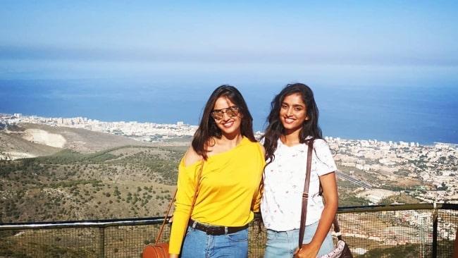 Divya Sripada (Right) and Pujita Ponnada enjoying their time in Spain
