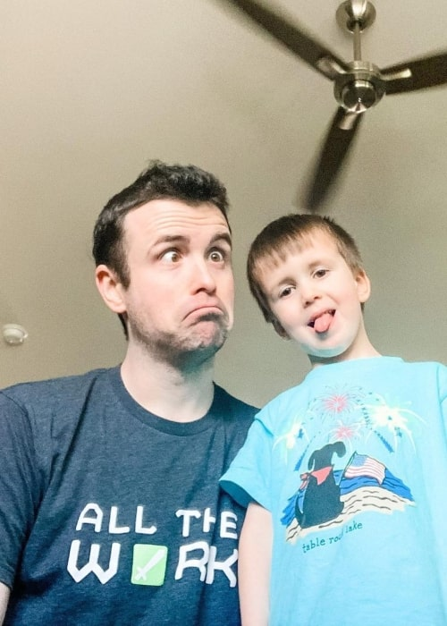 DrLupo and his son Charlie as seen in a picture that was taken in June 2020