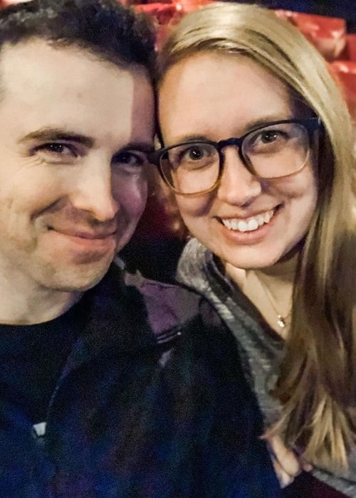 DrLupo as seen in a selfie that was taken with his wife MrsDrLupo in January 2020