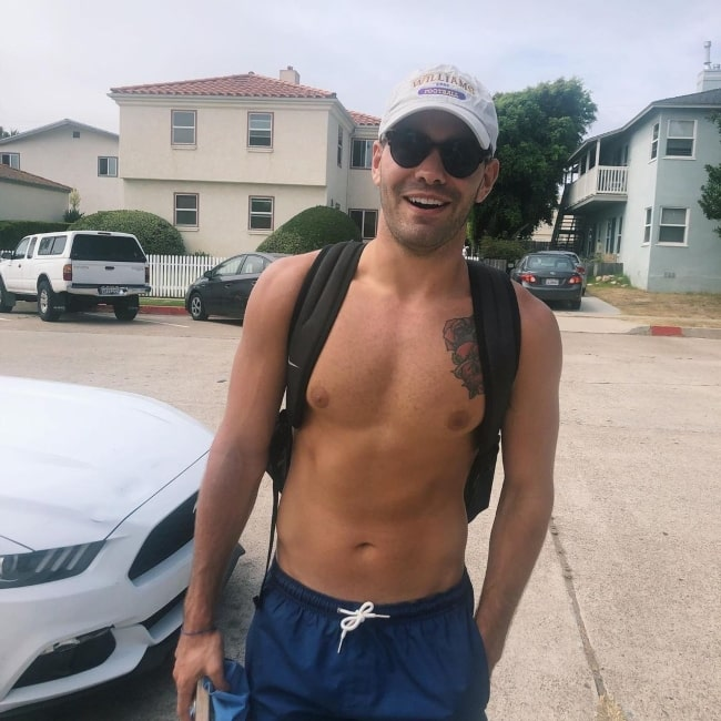 Dylan Barbour in August 2019 heading towards the Pacific Beach