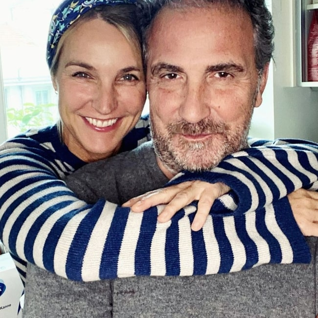 Ellen Hidding as seen in a picture with her beau Roberto Cozzi in January 2021