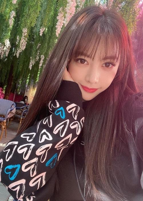 Eunji as seen in a selfie in October 2020