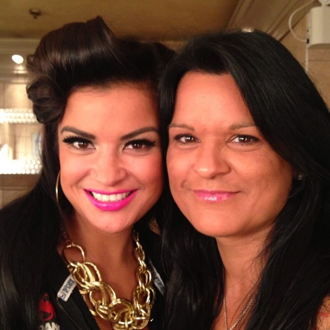 Georgina Lightning and her daughter Crystle Lightning in a picture that was taken in August 2013