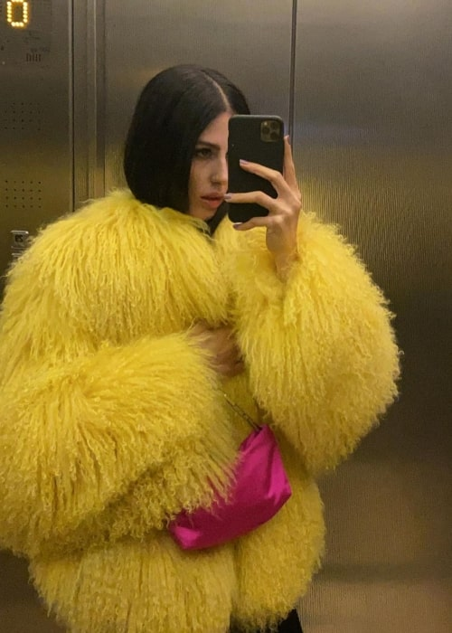 Gilda Ambrosio as seen in a selfie that was taken in February 2021