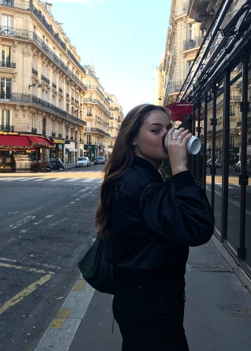 Grace Beedie as seen in a picture that was taken in Paris, France in November 2017