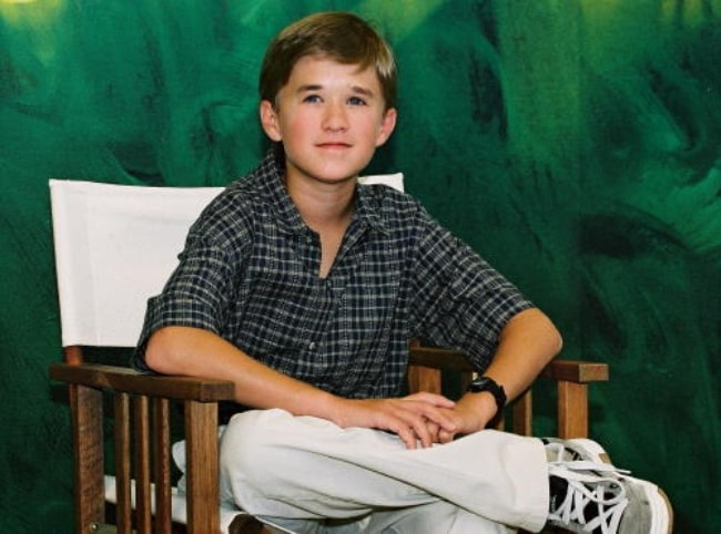 Haley Joel Osment at a press conference in 2001