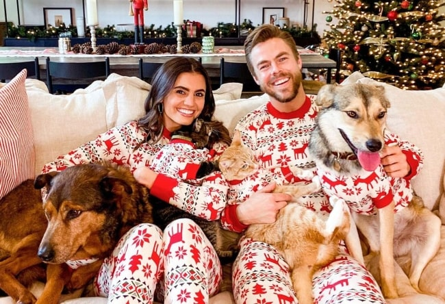 Hayley Erbert and her family wishing everyone a merry Christmas in December 2020