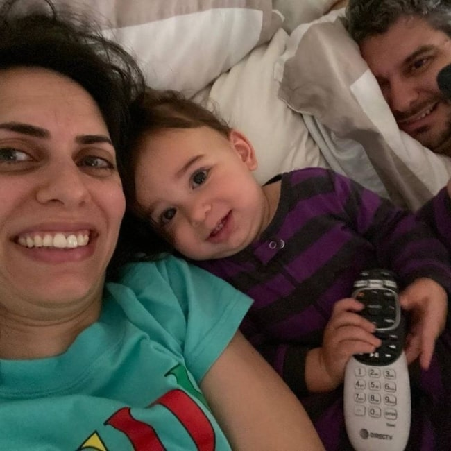 Hila Hacmon, Theodore Yochanan, and Ethan Klein in a selfie that was taken in May 2020